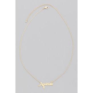Gold Star Halskette