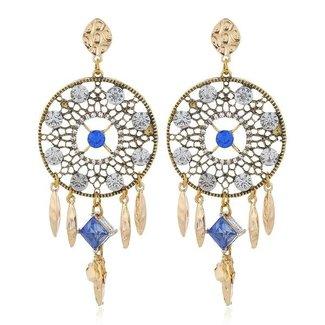 NEW2404 Goldene Ohrringe mit Traumfänger