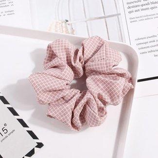 NEW2404 Hellrosa Checkered scrunchie