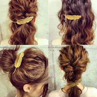 NEW2404 Gold Leaf Haarspange
