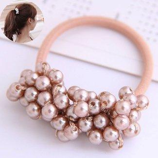 NEW2404 Rosa Haar Elastic mit Perlen