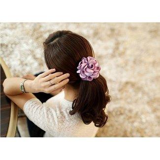 NEW2404 Haargummi mit rosa Blume