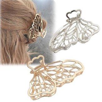 NEW2904 Silber Schmetterling Haarspange