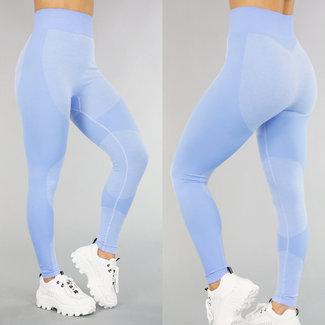 NEW0605 Light Blue Sport Legging mit Ripple