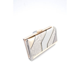 NEW0605 Grau Snake Geldbörse mit goldenen Details
