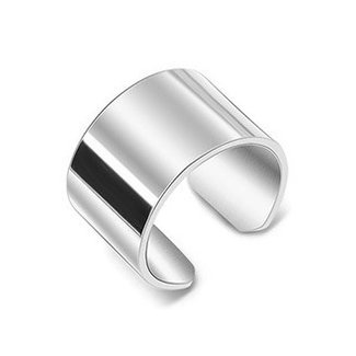 NEW2005 Grove Edelstahl-Silber-Ring