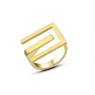 Grove Logo Ring Gold Edelstahl
