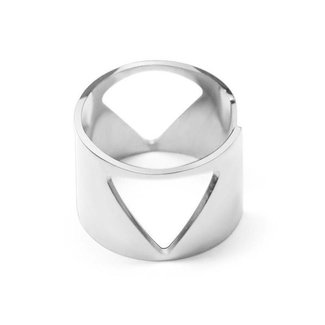 Wide Open Ring Silber Triangles