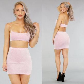 !OP=OP Anschließen von zwei Stück Sexy Glitter Pink