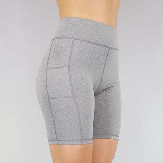 NEW2705 Elastik grau Sport-Hosen mit Taschen