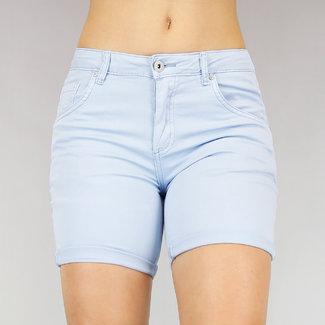 NEW2705 Light Blue High Waist Jeans Short