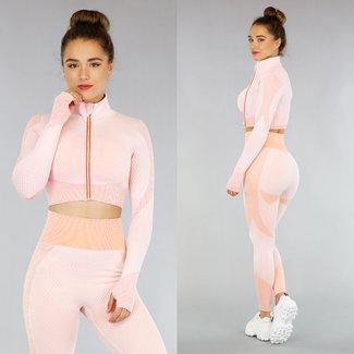 Pink Sport Jacke mit Muster