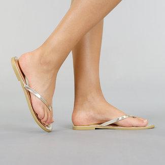 NEW2705 Basic-Gold-Metallic Thongs