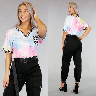 Batik-T-Shirt Panther Print