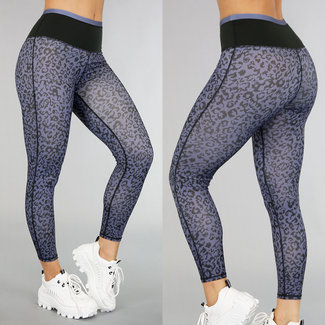 NEW0306 High Waist Legging Leopard Sport