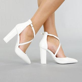 NEW0306 Weiß Croco Lak Sandalen