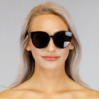 NEW1006 Schwarz-Sonnenbrille mit Colored Glasses
