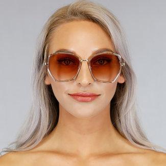 NEW1006 Gold Sonnenbrille mit schwarzem Glas