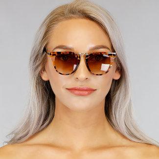 NEW1006 Leopard-Sonnenbrille mit Goldrahmen