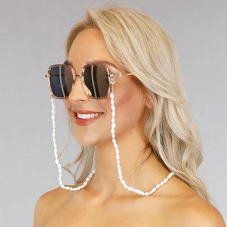 NEW1006 Sonnenbrille Cord mit weißen Muscheln