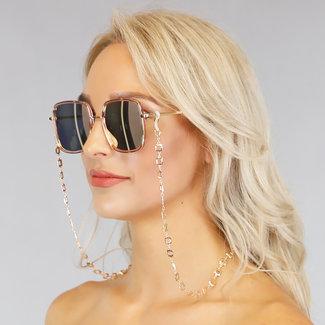 NEW1006 Sonnenbrille mit Goldschnur Squares