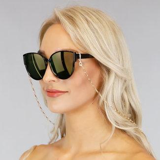NEW1006 Grund Gold-Sonnenbrille Cord mit Schalter öffnen