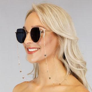 NEW1006 Gold Sonnenbrille Cord mit Schmetterlingen
