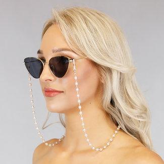 NEW1006 Gold Sonnenbrille String mit Perlen