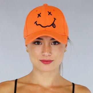 Orange Cap mit Smiley