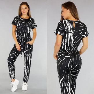 Black Tie Dye Short Sleeve-Overall