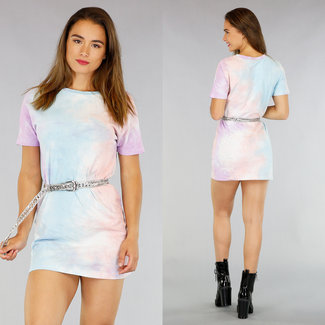 NEW1706 Short Tie Dye Kleid