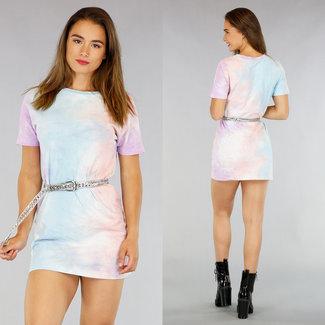 Short Tie Dye Kleid