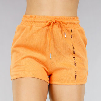 NEW1706 Bequeme orange Short mit Taschen