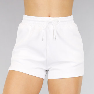 NEW1706 Bequeme weißen Stretch Short mit Taschen