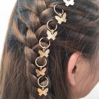 NEW1706 Golden Hair Schmuck Schmetterlinge