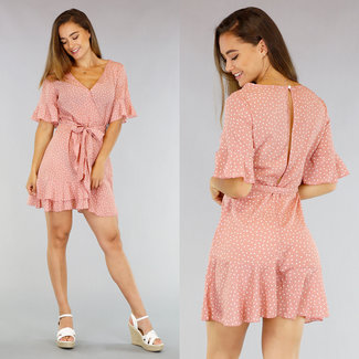 Old Pink Dots Kleid mit Wrap
