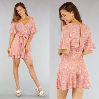 !OP=OP Old Pink Dots Kleid mit Wrap