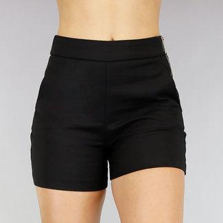 NEW0107 Basic Black Stretch Short