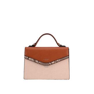 NEW1507 Elegantes Beige mit Brown Bag Schließung des Ventils