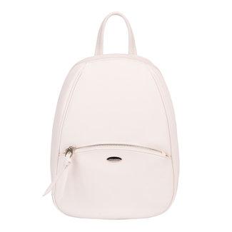 NEW1507 Stilvolle weiße Lederoptik Rucksack