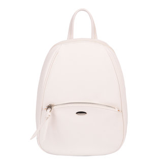 Stilvolle weiße Lederoptik Rucksack