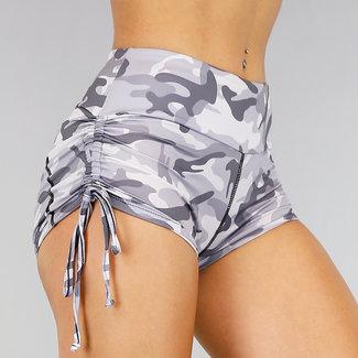 NEW1507 Grau Camouflage Sport Shorts mit Schleife