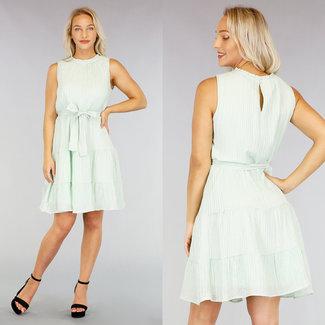 NEW1507 Mint gefaltetes Kleid mit Bund