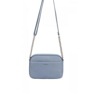 NEW1507 Grau Blau-Leder-Blick-Umhängetasche