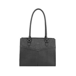 NEW2207 Big Black Handtasche mit Reißverschluss