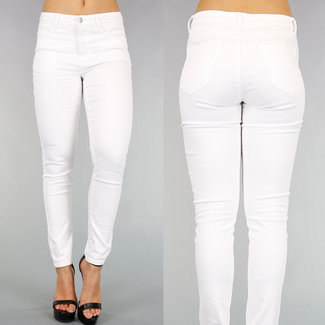 Weiß Medium Taille Push-Up Jeans