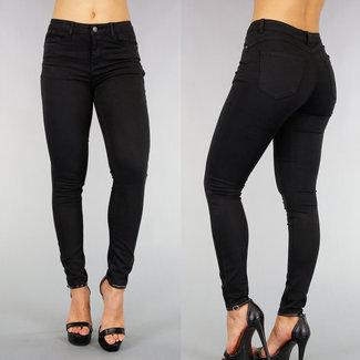 NEW0508 Schwarz Mittel Taille Push-Up Jeans