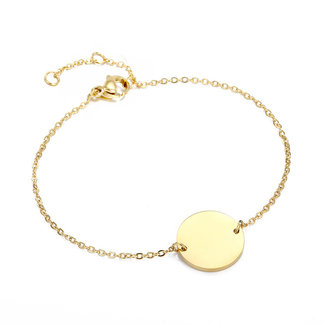 NEW1908 Sma Gold-Armband mit Buchstaben Charm Q t / m X