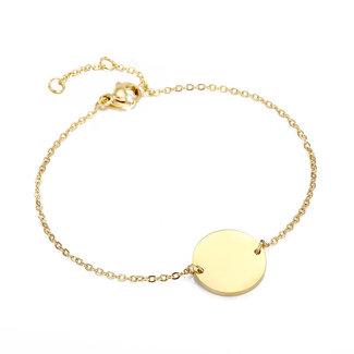 Sma Gold-Armband mit Buchstaben A Charm t / m H