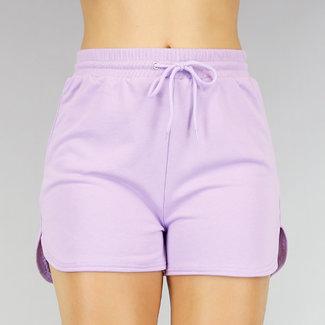 !OP=OP Bequeme Lila Stretch Short